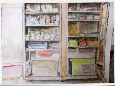 Armoire d'artiste peintre