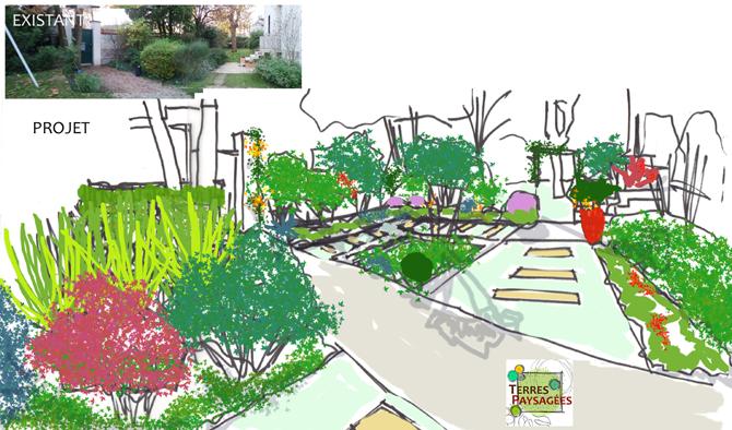 Jardin St maur des Fosses (94) - 2016 - Etude pour entree