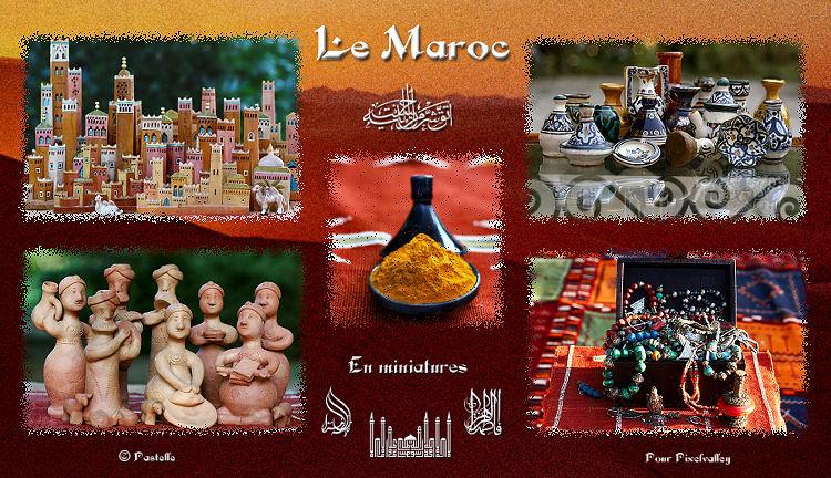 Carte postale d'un Maroc en miniatures