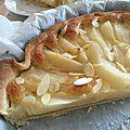 Tarte aux poires crème d'amande