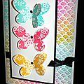 Arc-en-ciel de couleurs sur papier magique stampin up!