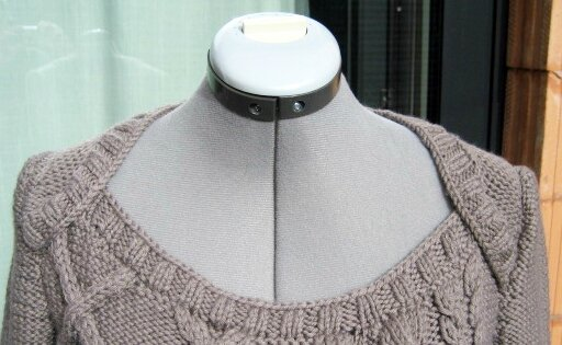 detail robe tricot Phildar