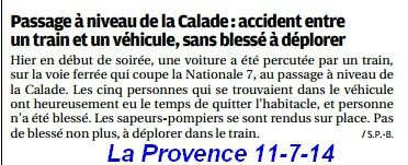accident La Calade 10-7-2014