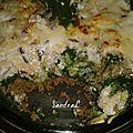 Gratin de riz bœuf épinard pour 1 pers 13 pp