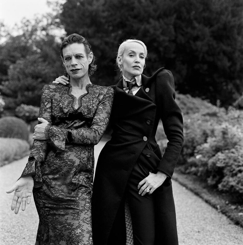 Mick Jagger & Jerry Hall Chäteau de la Fourchette Val de Loire 1996 Photo Brigitte Lacombe