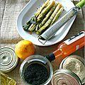 Salade de poireaux a l'orange & au sésame