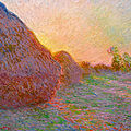 One of the finest examples of claude monet's haystacks series estimated to sell for in excess of $55 million