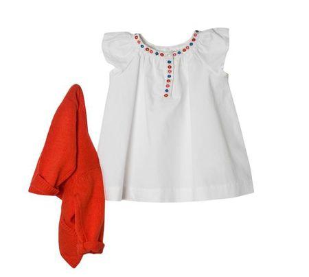 robe bonpoint blanche