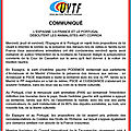 Communiqué commun de l'uvtf et de l'onct
