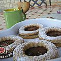 biscuits norvégiens fourrés à la confiture de prune maison