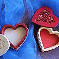 Boîtes à bijoux en forme de coeur