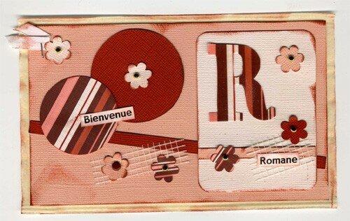 Pochette carte de Romane (sept 2006)