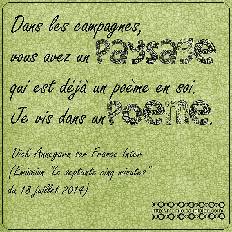 Citation Annegarn paysage poème