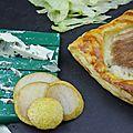 Ronde interblog : feuillete roquefort/ poires de reinefeuille