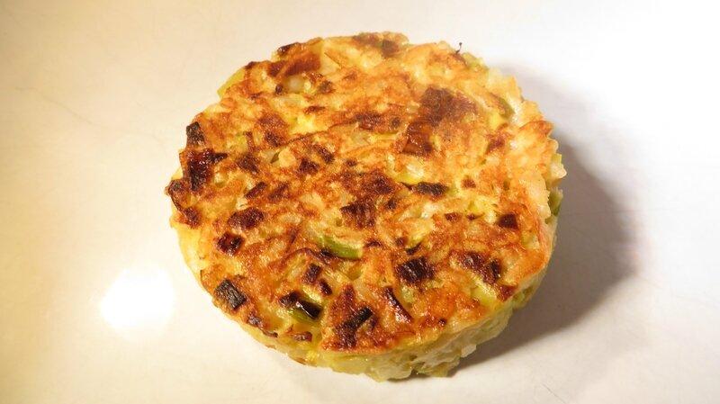 Galette riz poireaux (1)