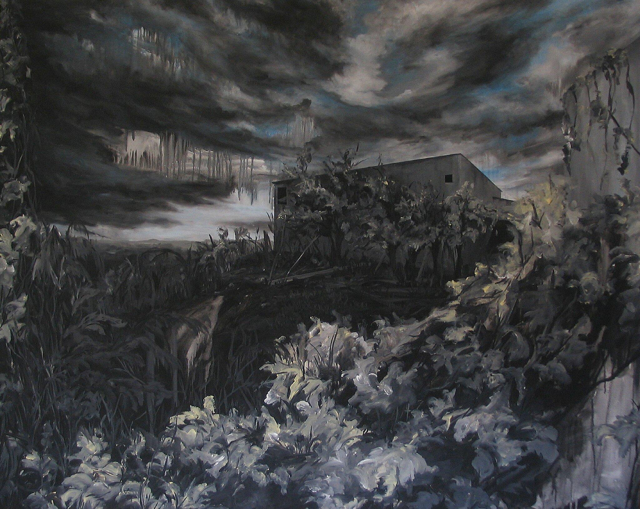 Linda Roux, Sans titre, acrylique sur medium, 150 x 120 cm, 2008