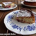 Gâteau amande fraise