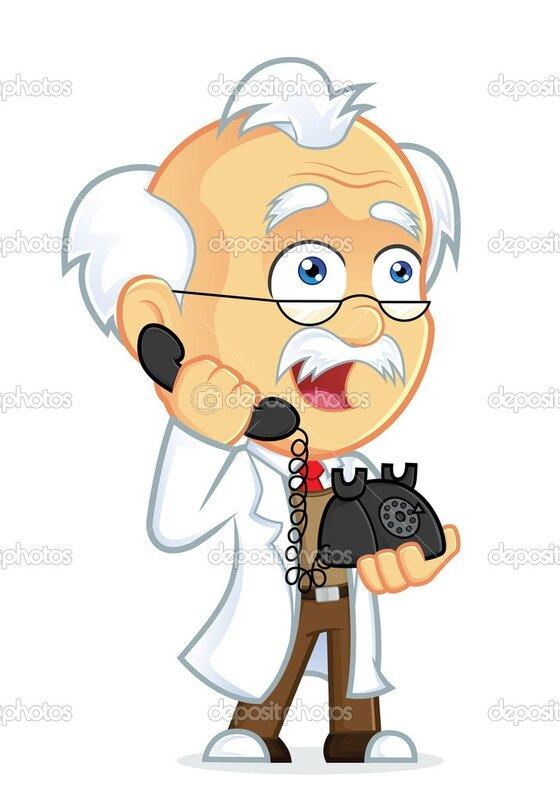 Professeur au téléphone