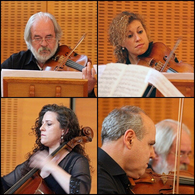 8 - le quatuor à cordes de l'orchestre de chambre du conservatoire de Greve in Chianti
