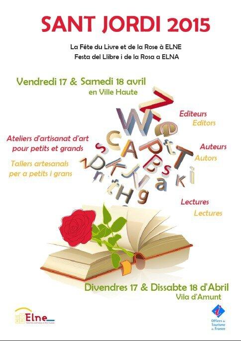 Marché du Livre à la Sant Jordi à Elne
