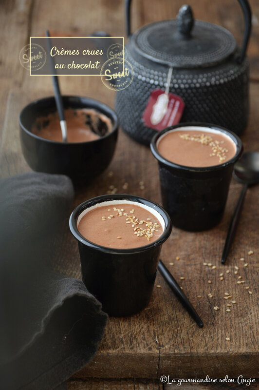 crème crue chocolat datte sésame vegan sans gluten psyllium