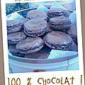 Macarons 100% chocolat