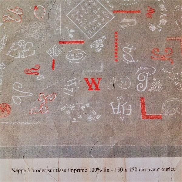 nappe lettres Bonheur des Dames 01