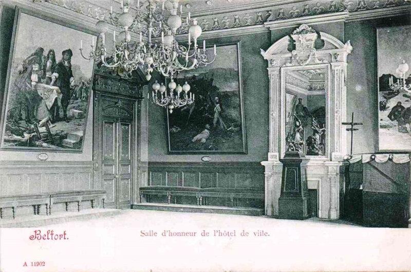 Belfort CPA Salle honneur Hôtel de ville R