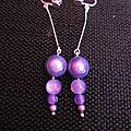 B.o. pendantes perles mauves