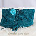 Tour de cou et bandeau tricot fait main