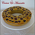 Cake au yaourt cerises et amandes