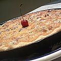 tarte amandine aux cerises