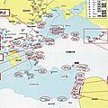 Levant - bureaux russes - carte