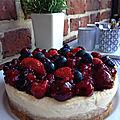 Cheesecake cake aux fruits rouges...