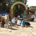 181 - Debre Bihran : L'entrée de l'église