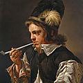 Michaelina wautier, a young man smoking a pipe