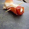 Boulettes noix de macadamia chèvre jambon cru