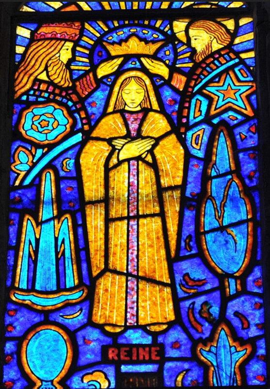 Couronnement de Marie, par Decorchemont, église d'Etrepagny