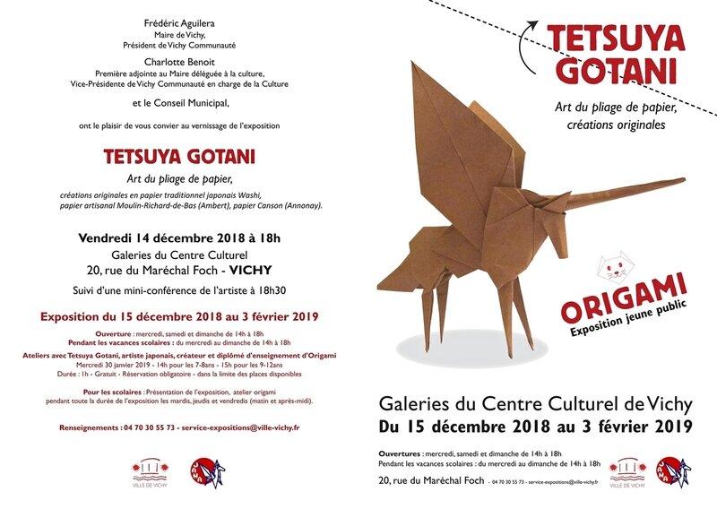 Carton Invitation Expo Origami Tetsuya GOTANI Vichy 2018