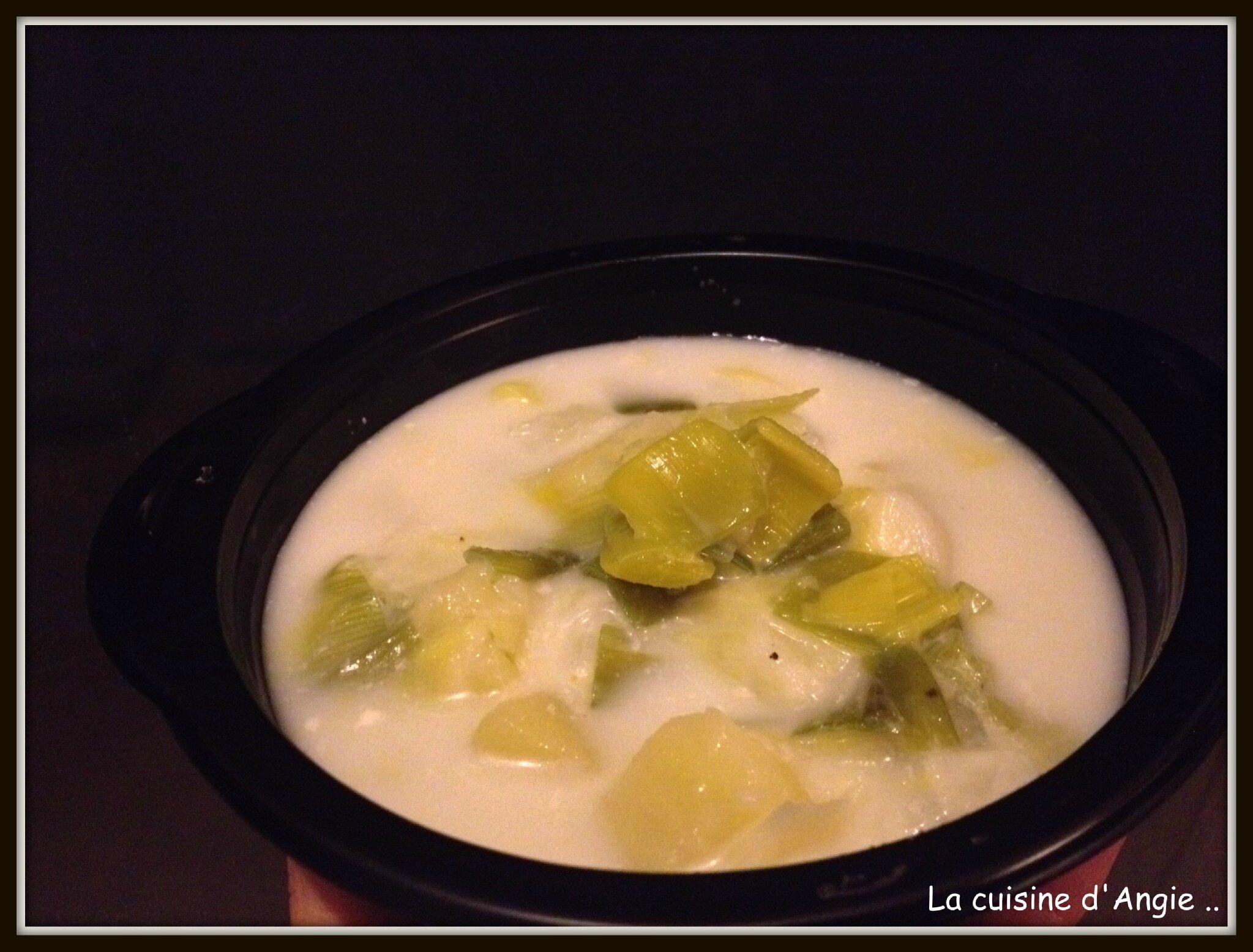 Soupe de poireaux et pommes de terre