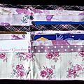 30. simili cuir rose, écossais violet - intérieur