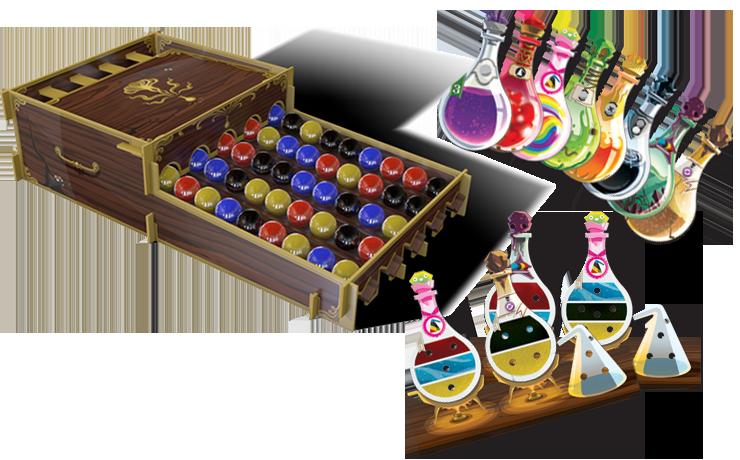 Boutique jeux de société - Pontivy - morbihan - ludis factory - Potion explosion matériel