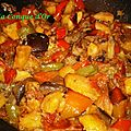 Sauté de légumes d'été et de pommes de terre