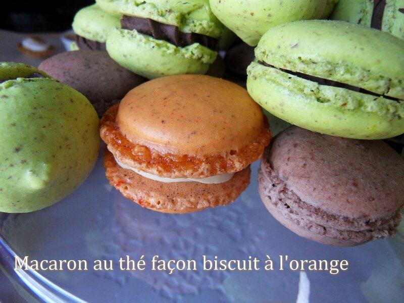 macarons au thé facon biscuit à l'orange1