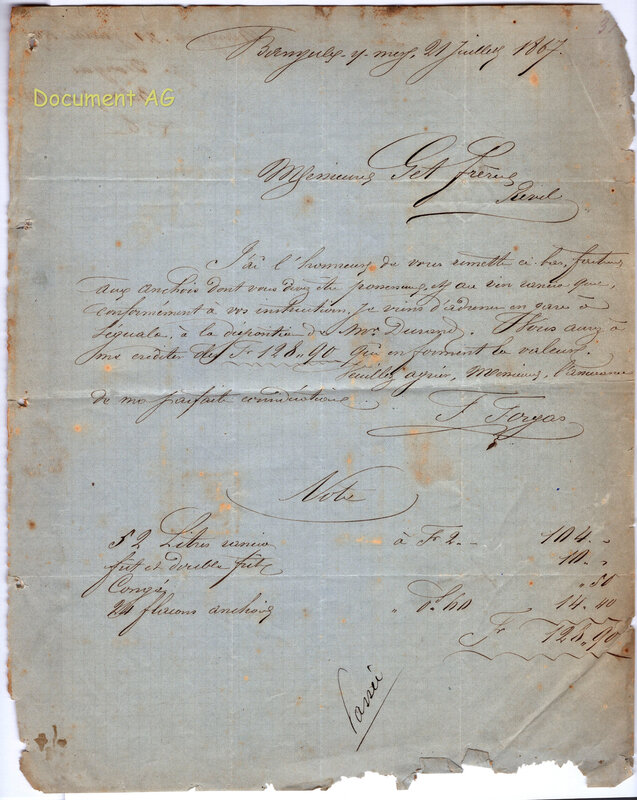 Document Forgas 1867