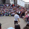 Quito et sa plaza grande.