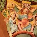 Christ bénissant ... chapiteau coloré comme au Moyen Age