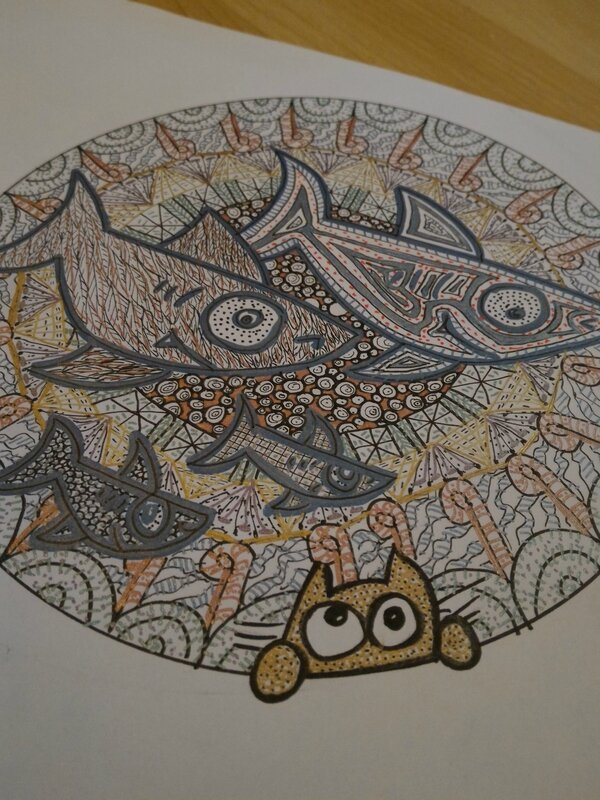 lilousshark zentangle