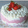 Vacherin glacé vanille fraise