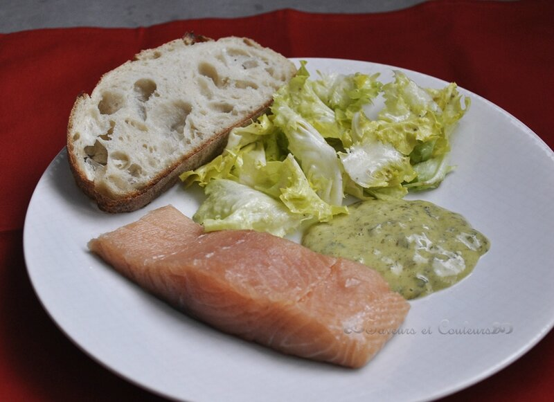 Saumon mayonnaise assiette